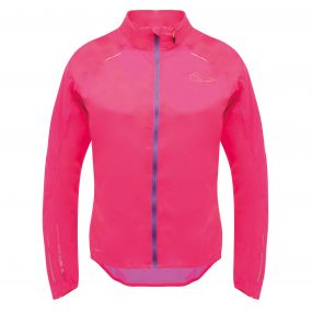 Womens Ensphere Packaway Jacket Neon Pink