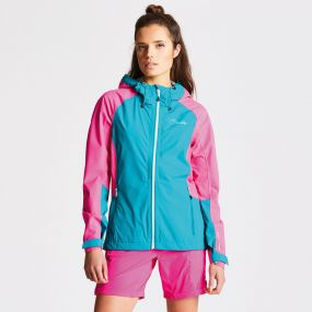 Women's Recourse II Jacket Shoreline Cyber Pink